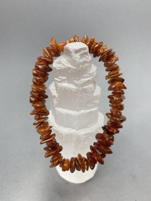 Cognac amber chipbracelet