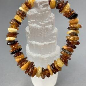Mixed Amber Chip Bracelet